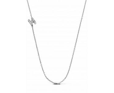 Gümüş H Harfi Kolye - N141901