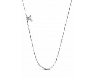 Gümüş K Harfi Kolye - N142101