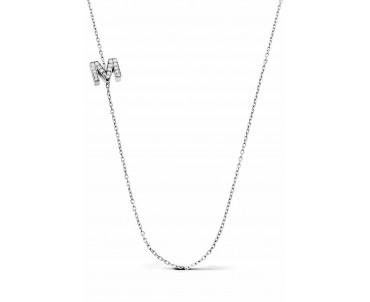 Gümüş M Harfi Kolye - N142301