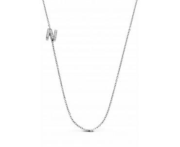 Gümüş N Harfi Kolye - N142401