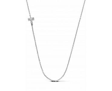 Gümüş T Harfi Kolye - N142901
