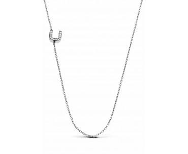 Gümüş U Harfi Kolye - N143001