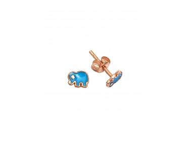 Gümüş Mini Fil Küpe - K082601