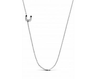 Gümüş Ü Harfi Kolye - N153301