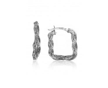 Gümüş Tasarım Füzyon Küpe -...