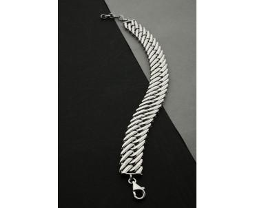 Gümüş Tasarım Bileklik -...