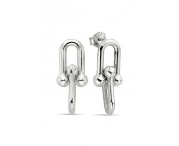 Gümüş Link Küpe - K094901