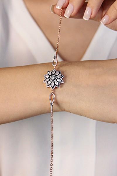 Gümüş Elmas Kesim Çiçek...