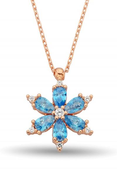 Mavi Taşlı Gümüş Yıldız...