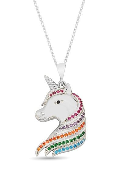 Gümüş Unicorn Kolye - N167001