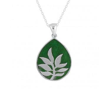 Yaprak Gümüş Kolye
