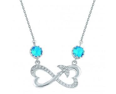 Mavi Taşlı Kalpli Sonsuzluk...