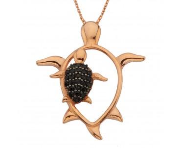 Kaplumbağa Gümüş Kolye