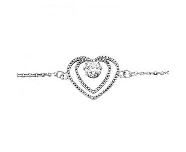 Kalp Gümüş Bileklik