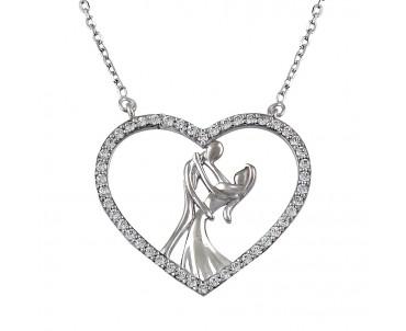 Aşk Dansı Gümüş Kolye
