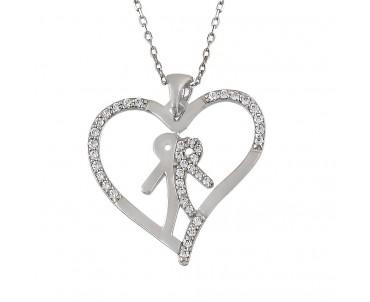 Tek Yürek Gümüş Kolye