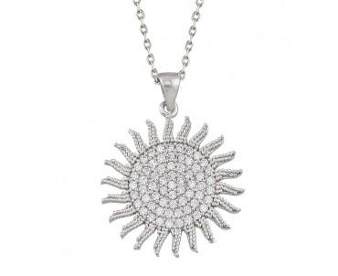 Güneş Gümüş Kolye
