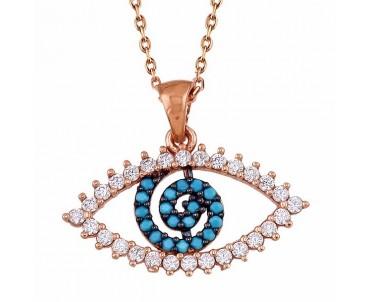 Göz Gümüş Kolye