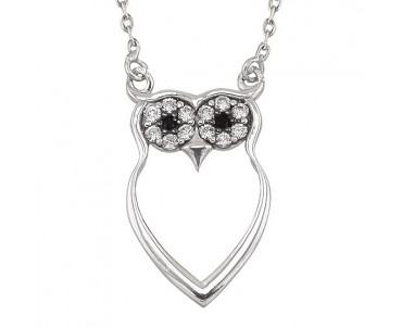 Baykuş Gümüş Kolye