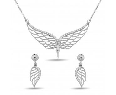 Zirkon Taşlı Gümüş Melek Set