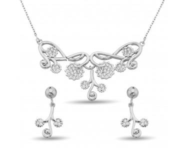 Zirkon Taşlı Gümüş Çiçek...
