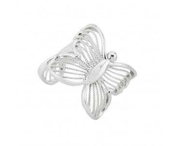 Kelebek Motifli Gümüş...
