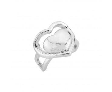 Kalp Motifli Gümüş Kıkırdak...