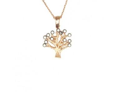 Ağaç Gümüş Kolye