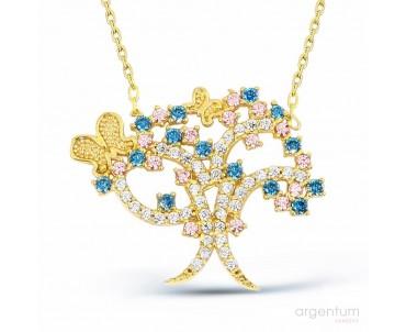 Kelebekli Gümüş Hayat Ağacı...
