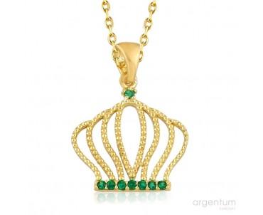 Yeşil Zirkon Taşlı Gümüş...