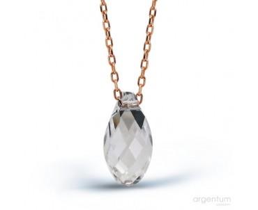 Gümüş Kristal Kolye