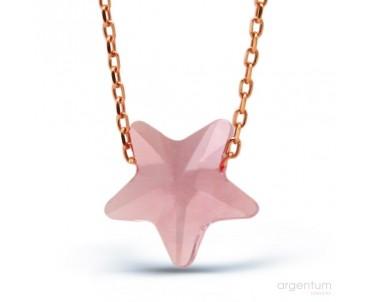 Kristal Yıldız Gümüş Kolye
