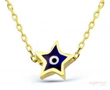 14 Ayar Altın Yıldız Nazar...