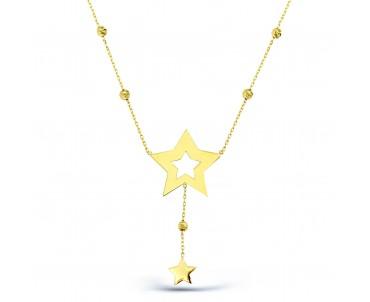 14 Ayar Altın Yıldız Kolye