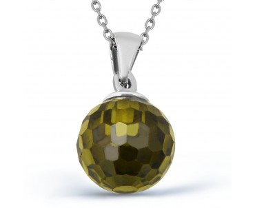 Peridot Taşlı Gümüş Kolye