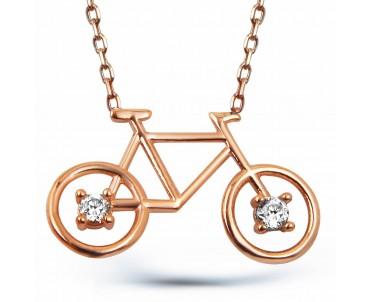 Zirkon Taşlı Gümüş Bisiklet...