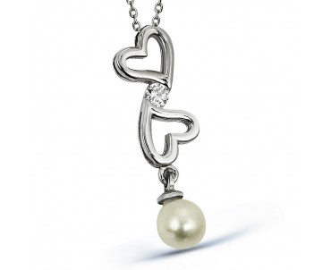 Zirkon Taşlı Gümüş Kalpli...