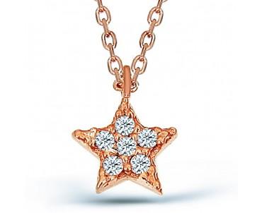 Zirkon Taşlı Gümüş Yıldız...