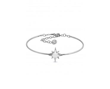 Kuzey Yıldızı Motifli Gümüş...